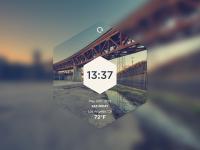 Hexa Time Widget by Alex Paxton