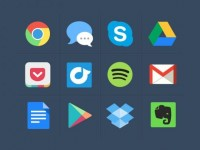 Free Colourful Flat Icons (PSD) - Designer First