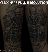 Ghost Rider Inspiration Legs Tattoo Design