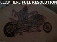 Ghost Rider Inspiration Back Tattoo Design