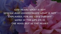 God Hears What Is Not inspirational Quotes | Share Life Quotes