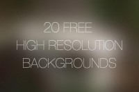 20 Free High Resolution Backgrounds - Designer First