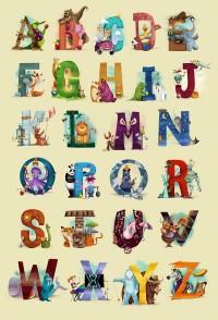 The Animals' Alphabet Art Print by Dave Mottram's Store   Society6