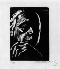 (1924)+Käthe+Kollwitz,+Self-Portrait,+Woodcut+on+Japan+Paper,+15,1x11.jpg (348×400)