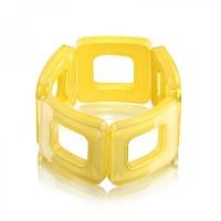 Lemon Square Acrylic Bracelet,stretch bracelet,acrylic bracelet,square