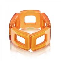 Caramel Square Acrylic Bracelet,stretch bracelet,acrylic bracelet,squa