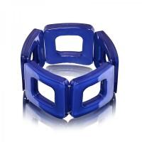 Dark Sapphire Square Acrylic Bracelet,stretch bracelet,acrylic bracele