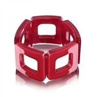 Ruby Red Square Acrylic Bracelet,stretch bracelet,acrylic bracelet,squ