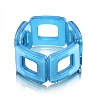 Aqua Square Acrylic Bracelet,stretch bracelet,acrylic bracelet,square
