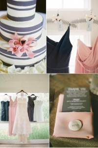 Wedding Color Inspiration: Charcoal + Blush | OneWed
