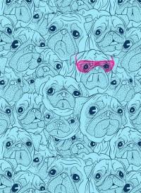 Pugs by jublin - INPRNT