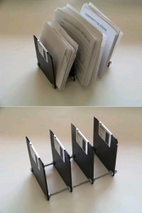 DIY Diskette Paper Holder DIY Projects | UsefulDIY.com