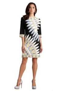 Discount Emilio Pucci Boat Neck Seven Sleeve Knit Slim Dress Beige On Sale