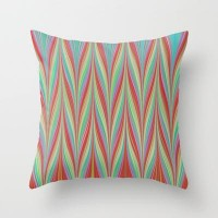 Chevron High Throw Pillow by Ally Coxon | Society6