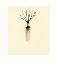 Little Tree Silhouette Art Print of Watercolor by LittleBeanPrints