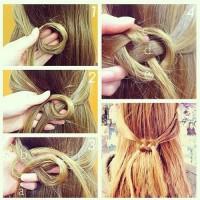 simple hair design | We Heart It