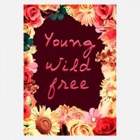 eu.Fab.com | Young Wild & Free Print