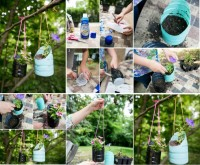 DIY Plastic Bottle Hanging Planters DIY Projects | UsefulDIY.com