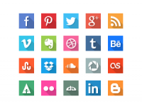 GraphicBurger » 40 Social Media Flat Icons