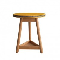 Yellow and Grey Brogue Side Table at Fresh