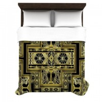 "Nika Martinez ""Golden Art Deco"" Duvet Cover 