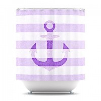 "Monika Strigel ""Stone Vintage Purple Anchor"" Shower Curtain 