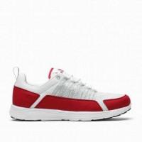 men white and red supra owen mesh footwear