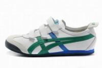 cheapest asics kanuchi white green blue men shoes