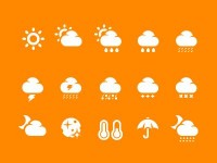 Weather icon set | Pixotico