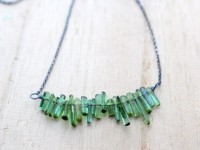 Tourmaline Fringe Necklace Sterling Silver Geek by SaressaDesigns