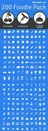200 Foodie Pack: A Free Set Of Food Icons | Smashing Magazine