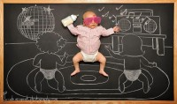 The Chalkboard Adventures of a Newborn Baby «TwistedSifter