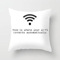 wi-fi Throw Pillow by fyyff | Society6