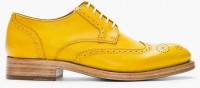 Kenzo Mustard Yellow Leather Elliott Wingtip Brogues in Gold for Men (mustard) | Lyst