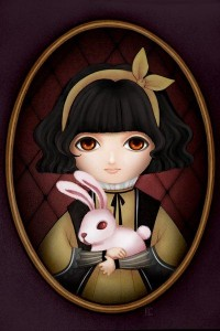 Portrait of Girl with Rabbit by ~maye6