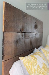 DIY :: Salvaged Wood Headboard