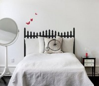 Stick It! Black & Gray Decal Headboards | Apartment Therapy