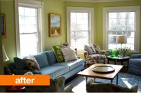 Before & After: Charlotte's Colorful Connecticut Living Room | Apartment Therapy