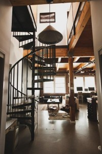 Warm Industrial Style in a Timber Loft Roommarks | Apartment Therapy