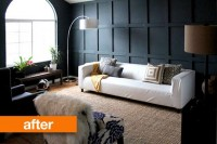 Before & After: Sophisticated and Dramatic Wainscoting Chris Loves Julia   Apartment Therapy