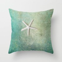 single starfish Throw Pillow by Sylvia Cook Photography | Society6