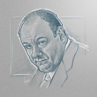 [sketch] James Gandolfini by =BikerScout
