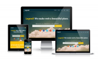 Legend: Free Responsive One Page Template | Dzyngiri