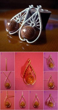 DIY Beautiful Wire Pendant DIY Projects | UsefulDIY.com