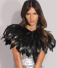 Party Must: Black Feather Cape — StyleFrizz