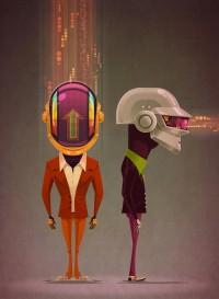A Tribute: 40 Awesome Daft Punk Artworks   inspirationfeed.com