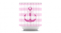 HomeSav - Kess InHouse , Stone Vintage Pink Anchor Shower Curtain by Monika Strigel