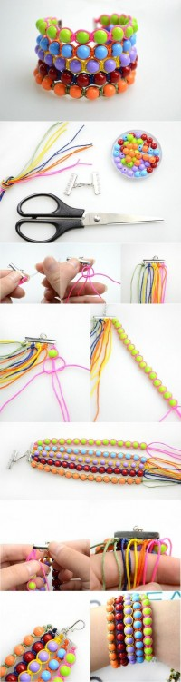 DIY Wide Beads Wristband DIY Projects | UsefulDIY.com