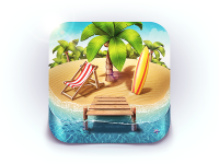 Paradise Island iOS Icon by Denis Shoomov | M18