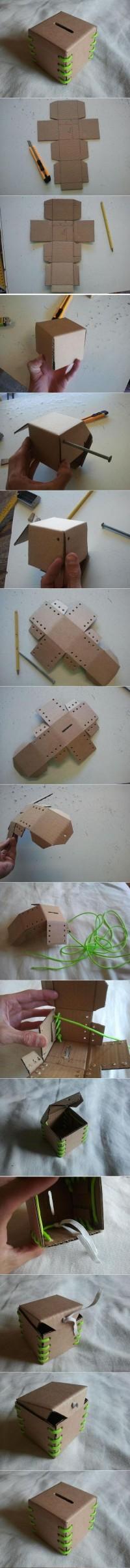 DIY Cardboard Piggy Bank DIY Projects | UsefulDIY.com